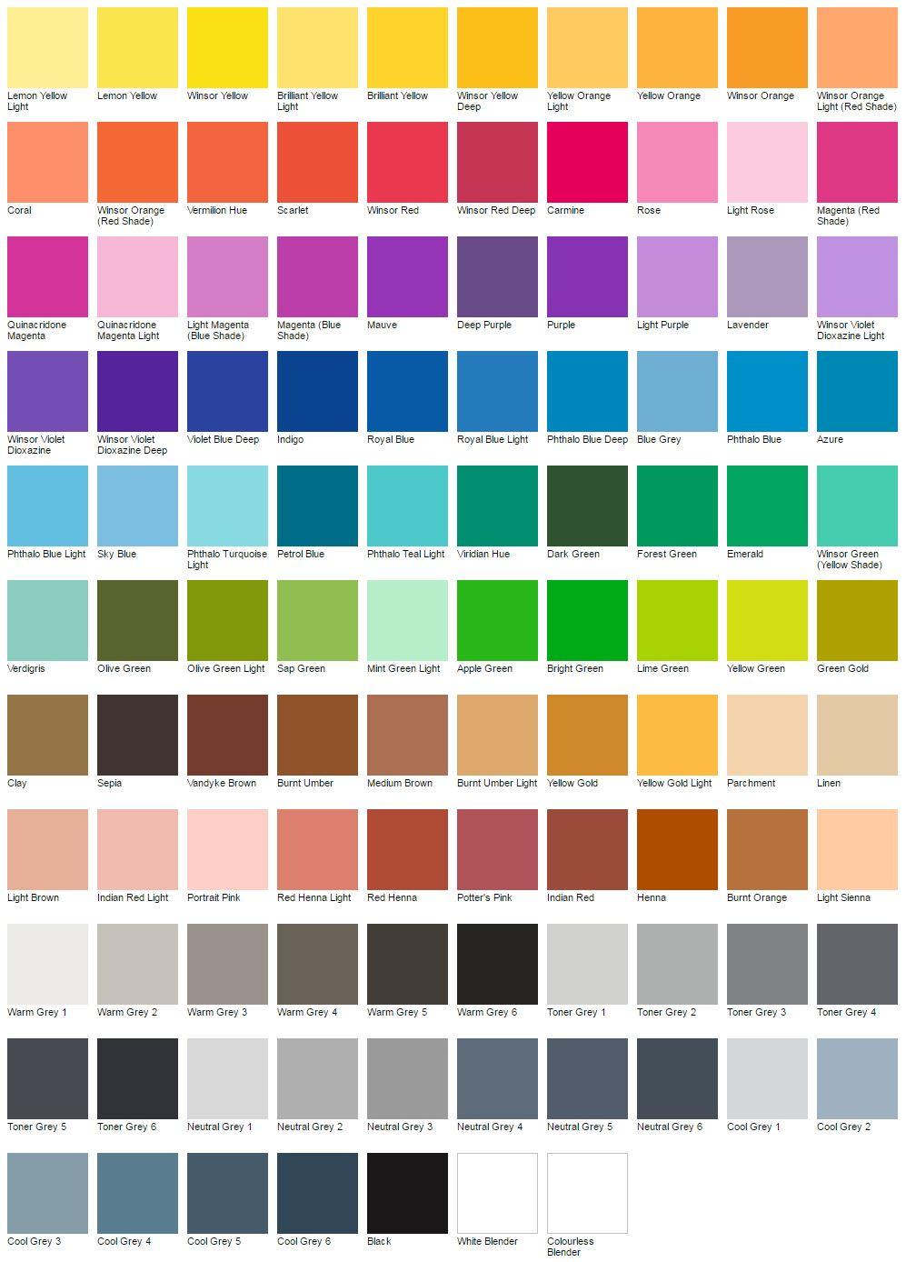 Gamma dei colori Pigment Marker