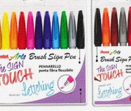 BRUSH SIGN PEN PENTEL SET